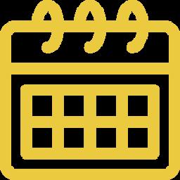 An icon depicting a calendar.