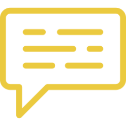 An icon depicting a speech bubble.