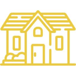 An icon depicting a house.